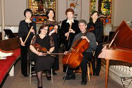 Musica Dolce and Friends<br>Seated, from left: Lea Karpman (violin), Martin Steinberg (violincello)<br>Standing, from left: Momo Kusaka (recorder), Ingrid (Hong Ying) Tang<br>(violin), Donna Messer (recorder), Min-Ju Lee (harpsichord)
