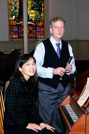 Guest Artists John Burkhalter (soprano recorder) and Min-Ju Lee (harpsichord)
