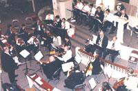 Bob Butts conducting The Grand Tour, United Methodist Church, 1999.