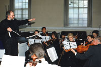 Bob Butts conducting a dress rehearsal, 1996.